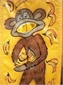 מתקן קליעה זריקת בננות לקוף